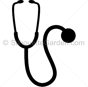 stethoscope silhouette clip art download free versions of the image rh pinterest com stethoscope clip art black and white stethoscope clipart