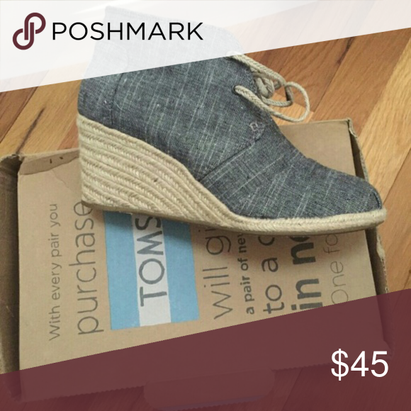 Tom's women's boots Tom's Denim canvas boots TOMS Shoes Ankle Boots & Booties