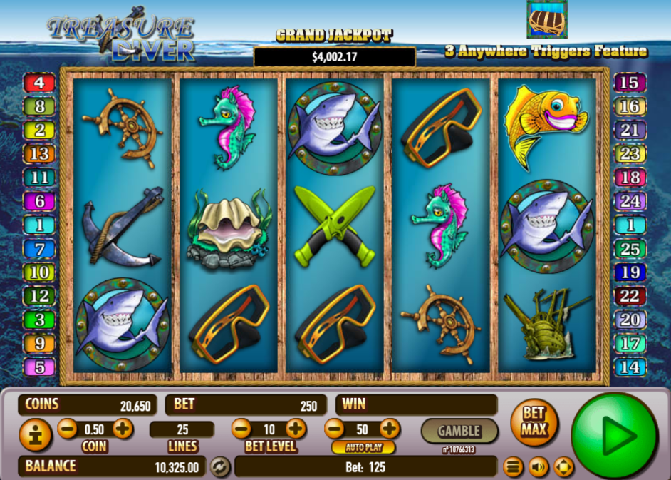 Treasure diver free slot machine online casino no deposit bonus paypal
