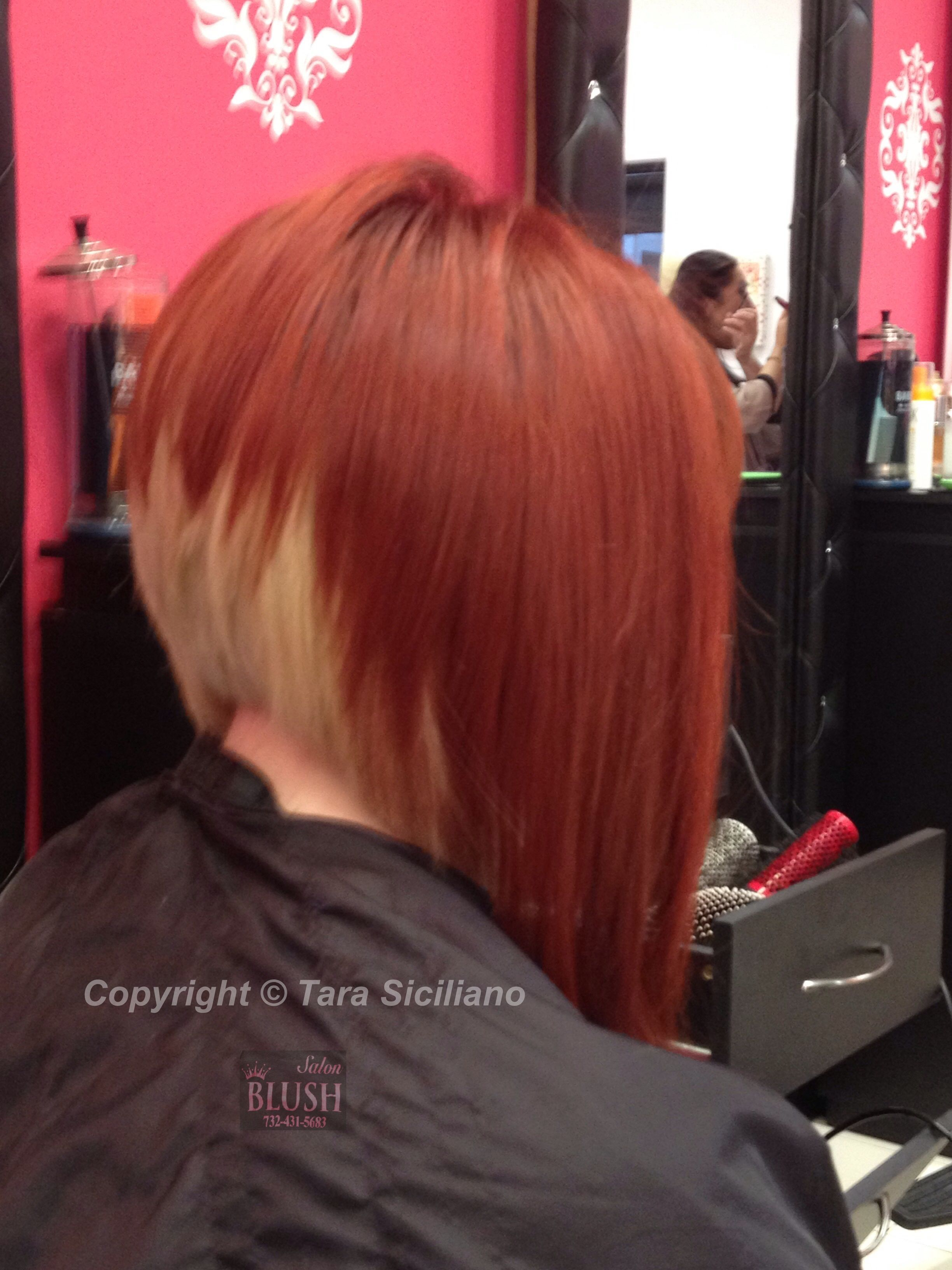 dramatic a-line bob with two-tone color | bob hairstyles