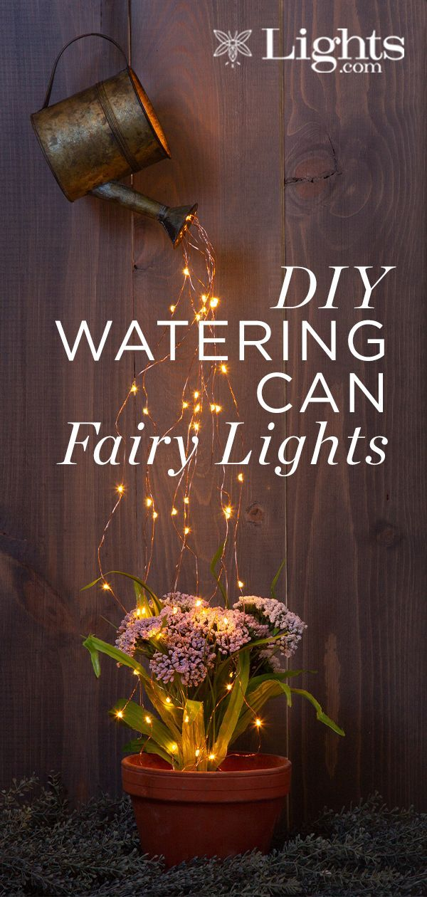 DIY Watering Can Fairy Lights, ChristmasOutdoorLightsdiy