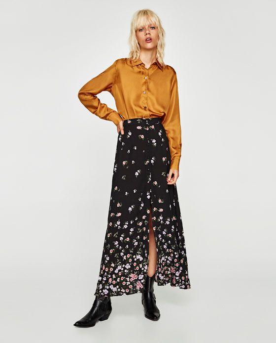 Εικόνα 1 του ΜΑΚΡΙΑ ΦΟΥΣΤΑ ΜΕ ΚΟΥΜΠΙΑ από Zara | Fashion