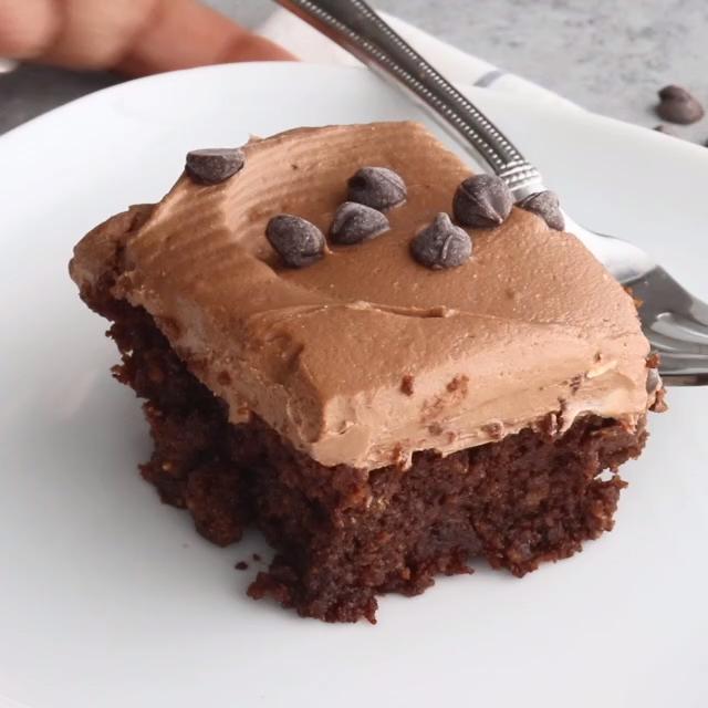 Keto Chocolate Cake- Cream Cheese Chocolate Frosti