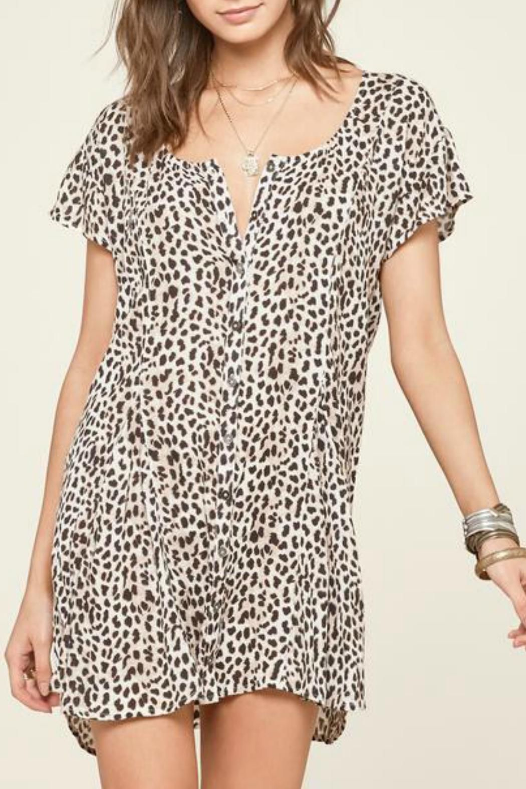 Amuse society leopard sun dress pinterest front button dress