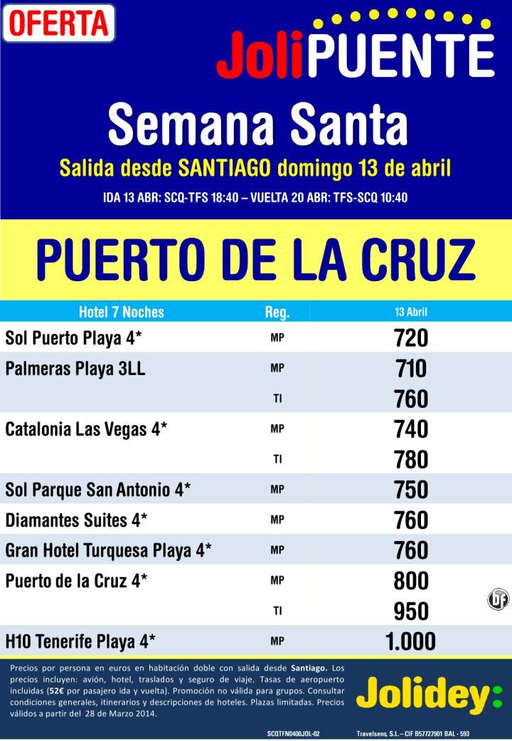 S.Santa - Pto de La Cruz desde 720€ Tax incl. Salidas domingo 13 desde SCQ ultimo minuto - http://zocotours.com/s-santa-pto-de-la-cruz-desde-720e-tax-incl-salidas-domingo-13-desde-scq-ultimo-minuto/