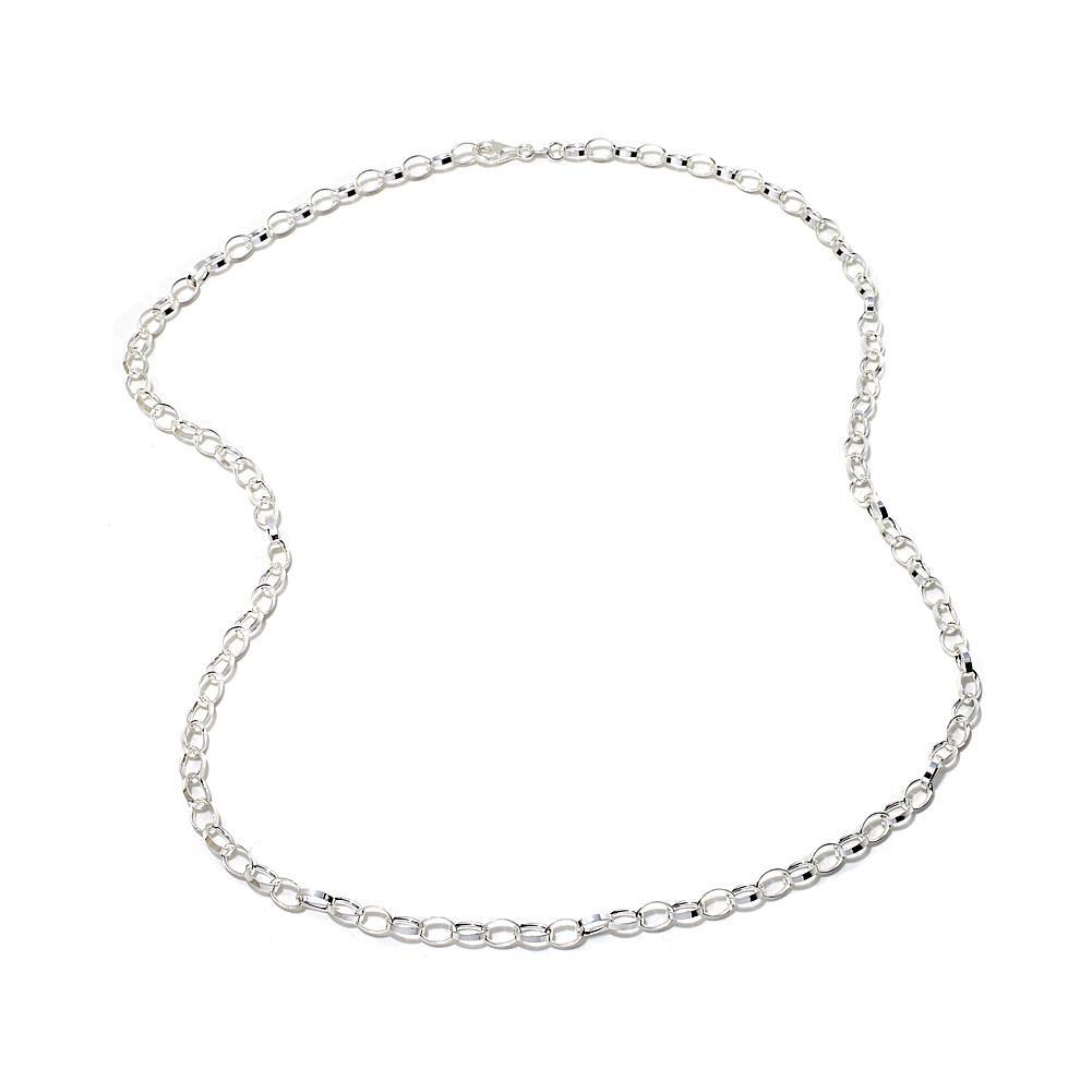 """Sevilla Silver™ Rolo Link 24"""" Necklace"""
