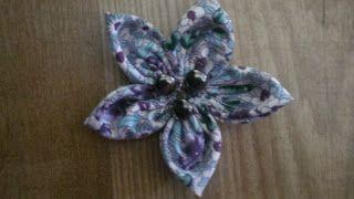 Blancanieves y los 7 vestiditos: Distintas formas de hacer flores con 5 círculos de tela. Paso a paso.