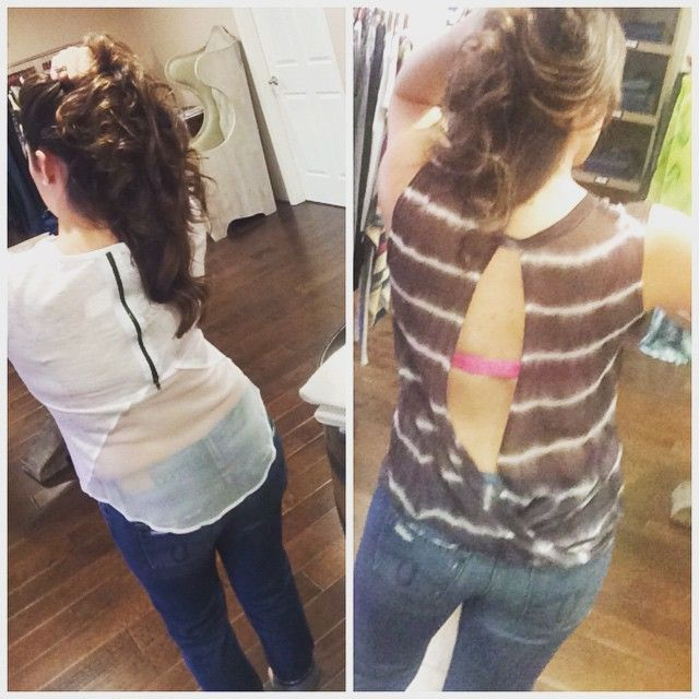 It's all about the back details for these new Red Haute Clothing tops! Follow us @Facebook.com/PerleSonoma, we ship!