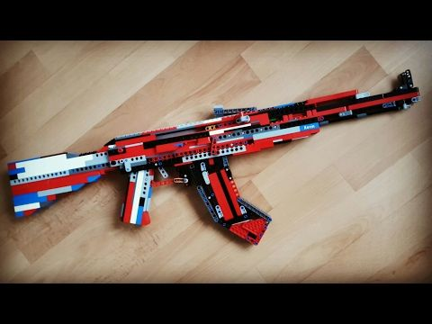 Lego Ak 47 Tutorial Instruction Youtube Lego Technic