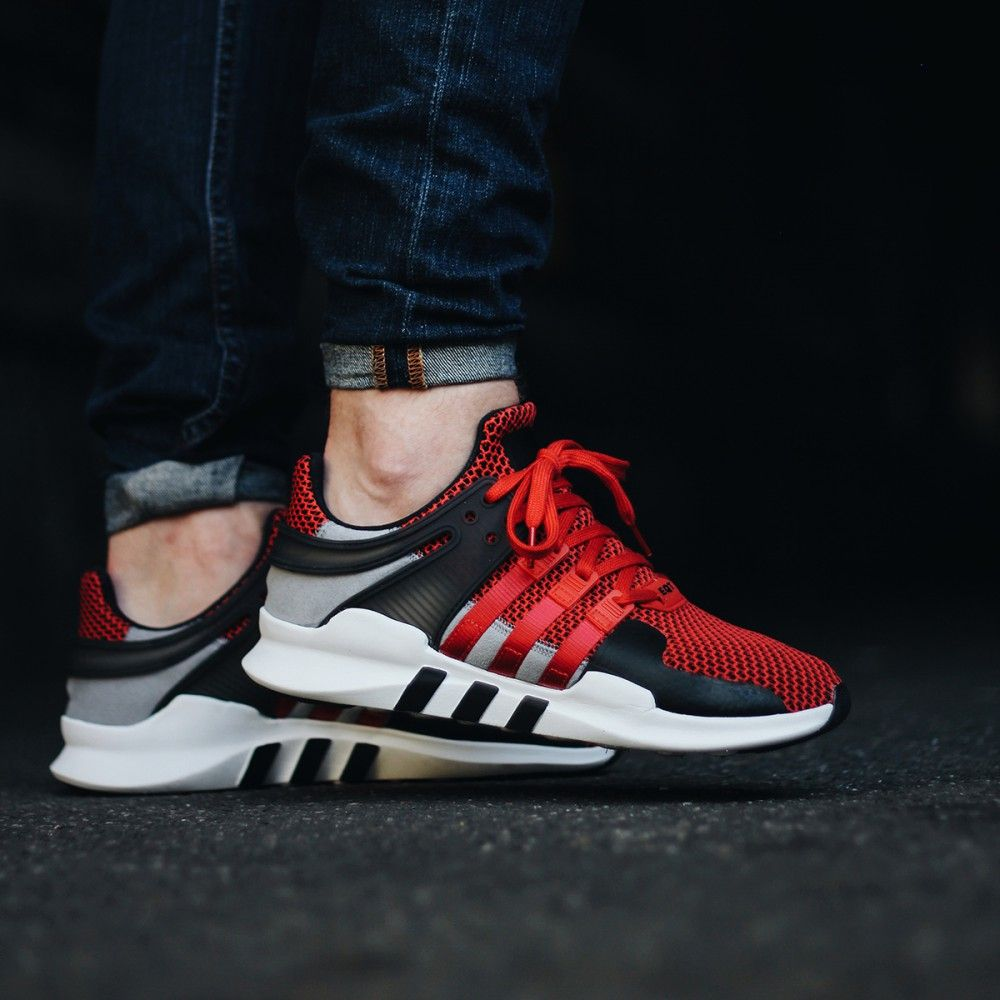 official supplier competitive price 100% genuine adidas EQT Equipment Support ADV (red / black / grey) - Free ...