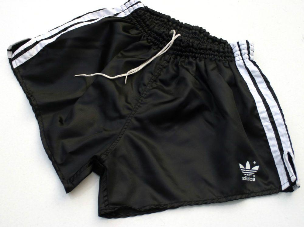 Vintageamp; GlanzGerman Shiny Adidas Nylon Rare ShortsD6mBlack W9DIeE2HY