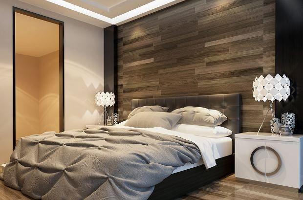 Panele Podłogowe Na ścianie Za łóżkiem Pokój Nowoczesne