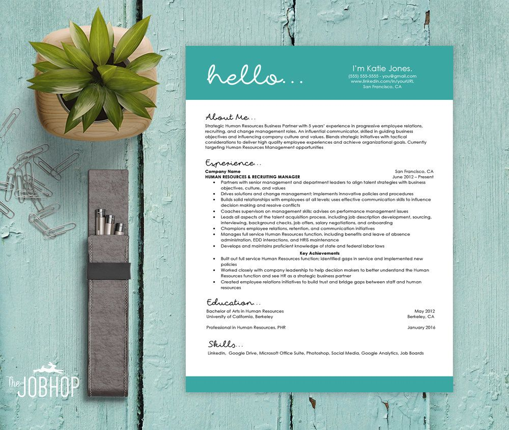 Hello  Unique Resume Resume Cover Letter Template And Resume Cover