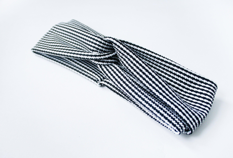 Turban Stirnband Schwarz Weiß Hahnentritt Damen Etsy Stirnband Schwarz Turban Stirnband