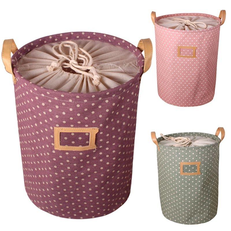 Cute Drawstring Laundry Hamper Basket Toy Clothes Storage