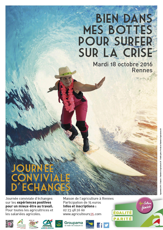 Affiche Melant Surf Et Agriculture. Il Su0027agit De Lu0027affiche Du0027