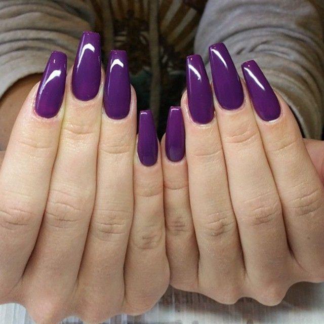 Purple nails | Purple acrylic nails, Purple nail designs ...