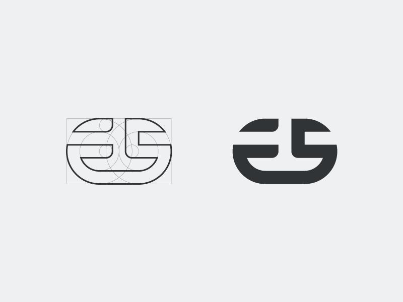 Es Monogram Identity Design Logo Branding Design Logo Lettering Design