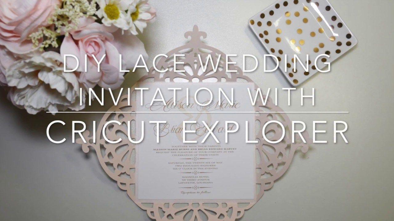 Wedding Invitations Cricut Diy Diy Lace Wedding Invitation