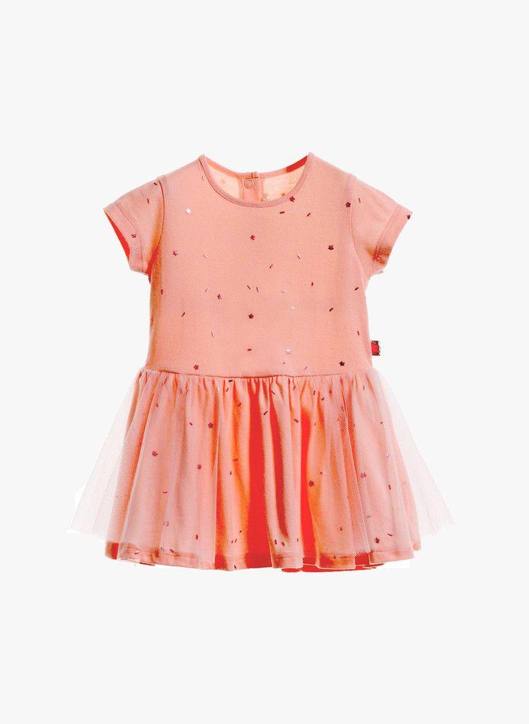 432a7ab95 Billieblush Baby Girls Pink Jersey Metallic Star Dress in Loukoum ...