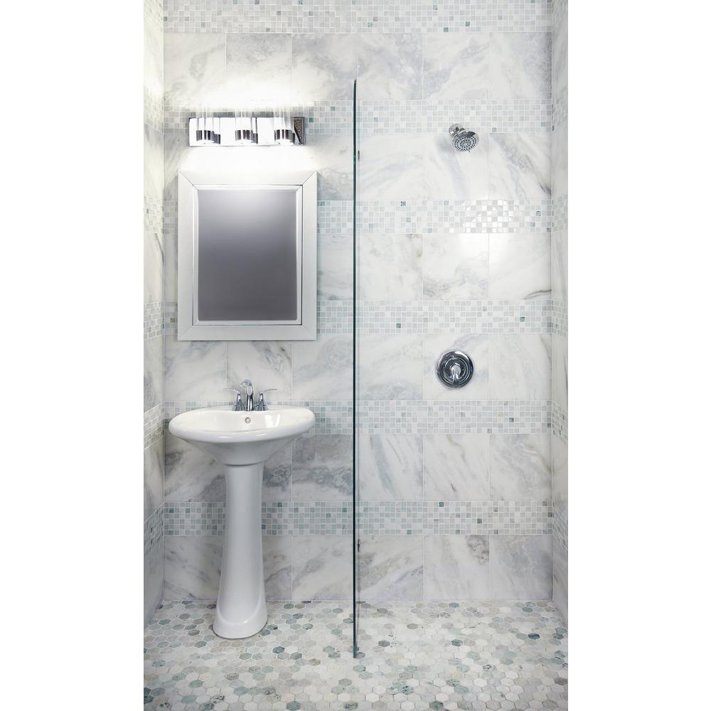 hexagon mosaic tile bathroom