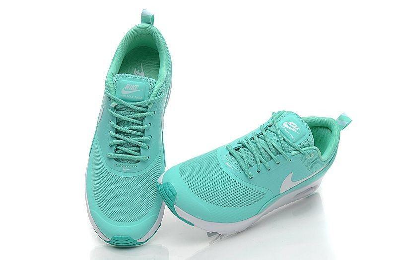 premium selection acbb0 9b91b Nike Air Max Thea Damen Schuh - Neon TürkisWeiß