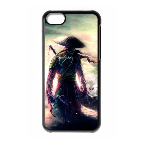 Custom Warrior Game IPhone 5C Cases Black Durable hard plastic Phone Case Metal Back surface Personalized Design