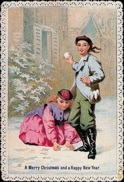 Scottish Christmas Card Vintage Merry Christmas And Happy New Year Vintage Card A Merry Christmas Vintage Merry Christmas Card Greetings Christmas Ephemera