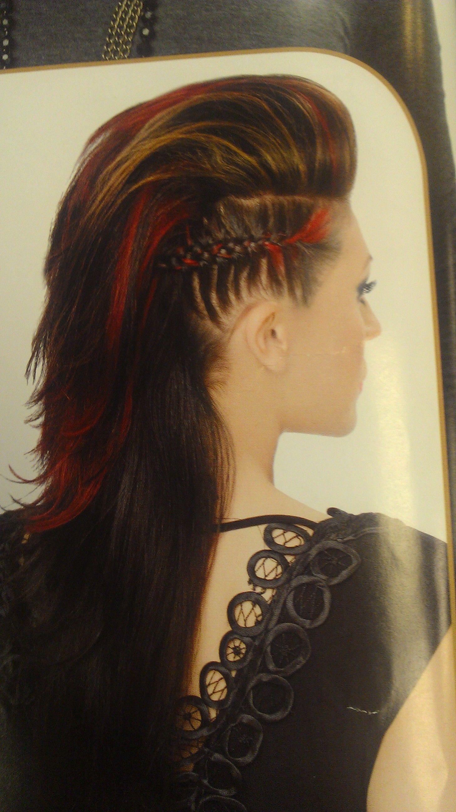 Faux hawk tribal hair pinterest faux hawk hair style and makeup