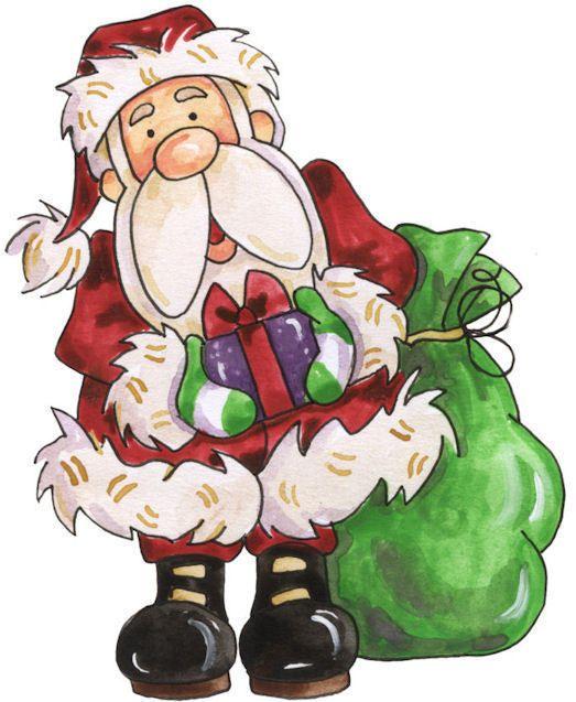 Santa Clipart Holiday Holidayclipart Christmas Patterns Colored Paintpatterns Designs Album De Noel Papa Noel Dessin Noel