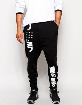 ASOS Drop Crotch Sweatpants With Print