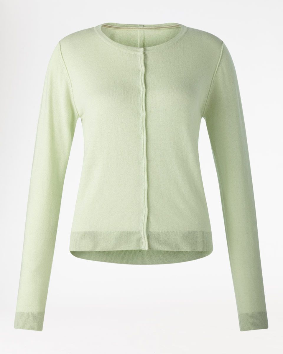 Jigsaw Crew Neck Cotton Cashmere Cardigan in Pistachio, £89 ...