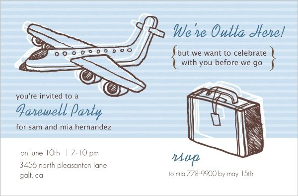 Sketchy Airplanes Farewell Party Invite Farewell Pinterest