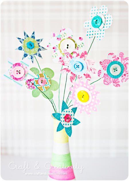 manualidad para hacer flores originales y divertidas con papel y
