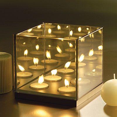 Infinite Reflection Glass Candle Holder B2btrademarketing