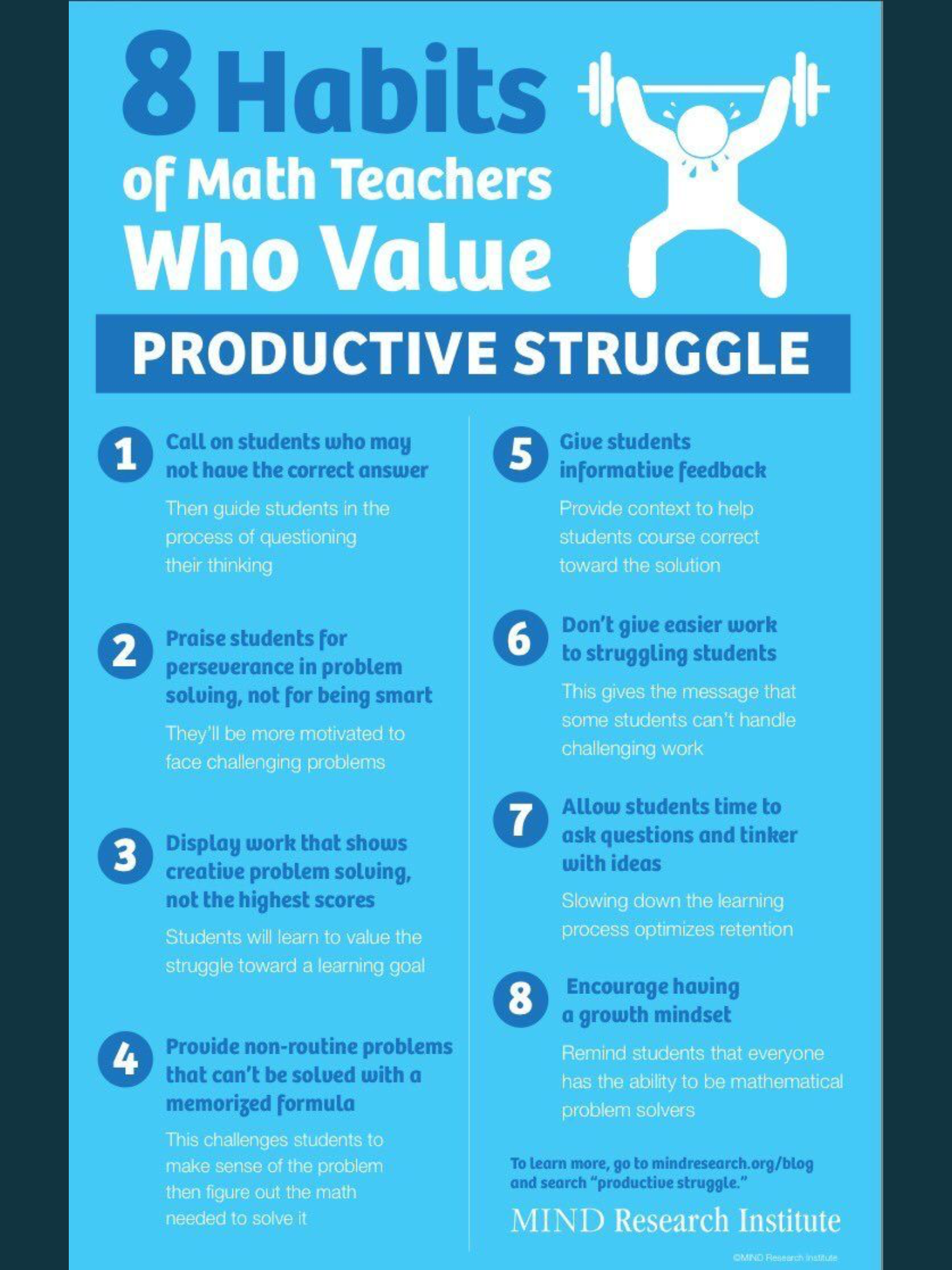 Productive Struggle Infographics Pinterest