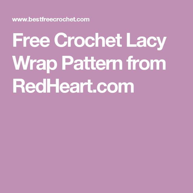 Free Crochet Lacy Wrap Pattern from RedHeart.com | Crochet jackets ...