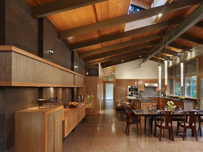 Open Beam Ceiling Ideas Exposed Beam Ceiling Lake Forest Park