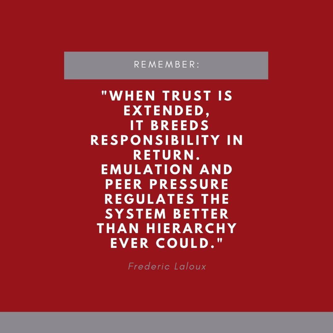 Dieses Zitat Stammt Aus Dem Buch Reinventing Organizations Von Frederic Laloux Er Schreibt In Dem Buch Uber Neue Formen Der Zusammenarbeit Und Fuhrung