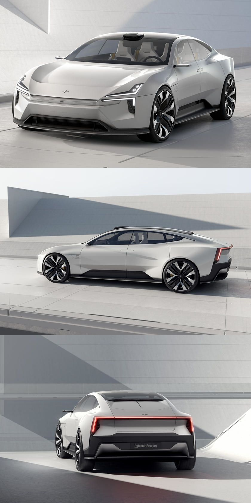 Presenting The Stunning Polestar Precept Concept. Polestar will preview its future design direction and new advanced tech at Geneva next week.
