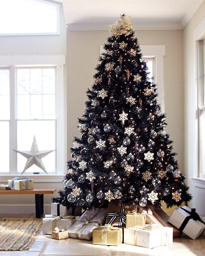 Albero Di Natale Nero.20 Decorazioni Per Un Albero Di Natale Nero Una Novita Tutta