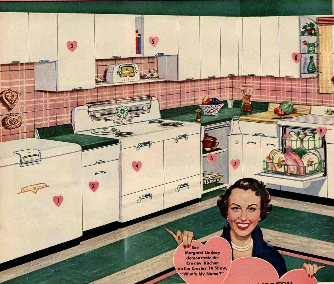 Advertisement For Crosley Brand Steel Kitchen Cabinets With Matching Coordinating Appliances Su Steel Kitchen Cabinets Metal Kitchen Cabinets Vintage Kitchen