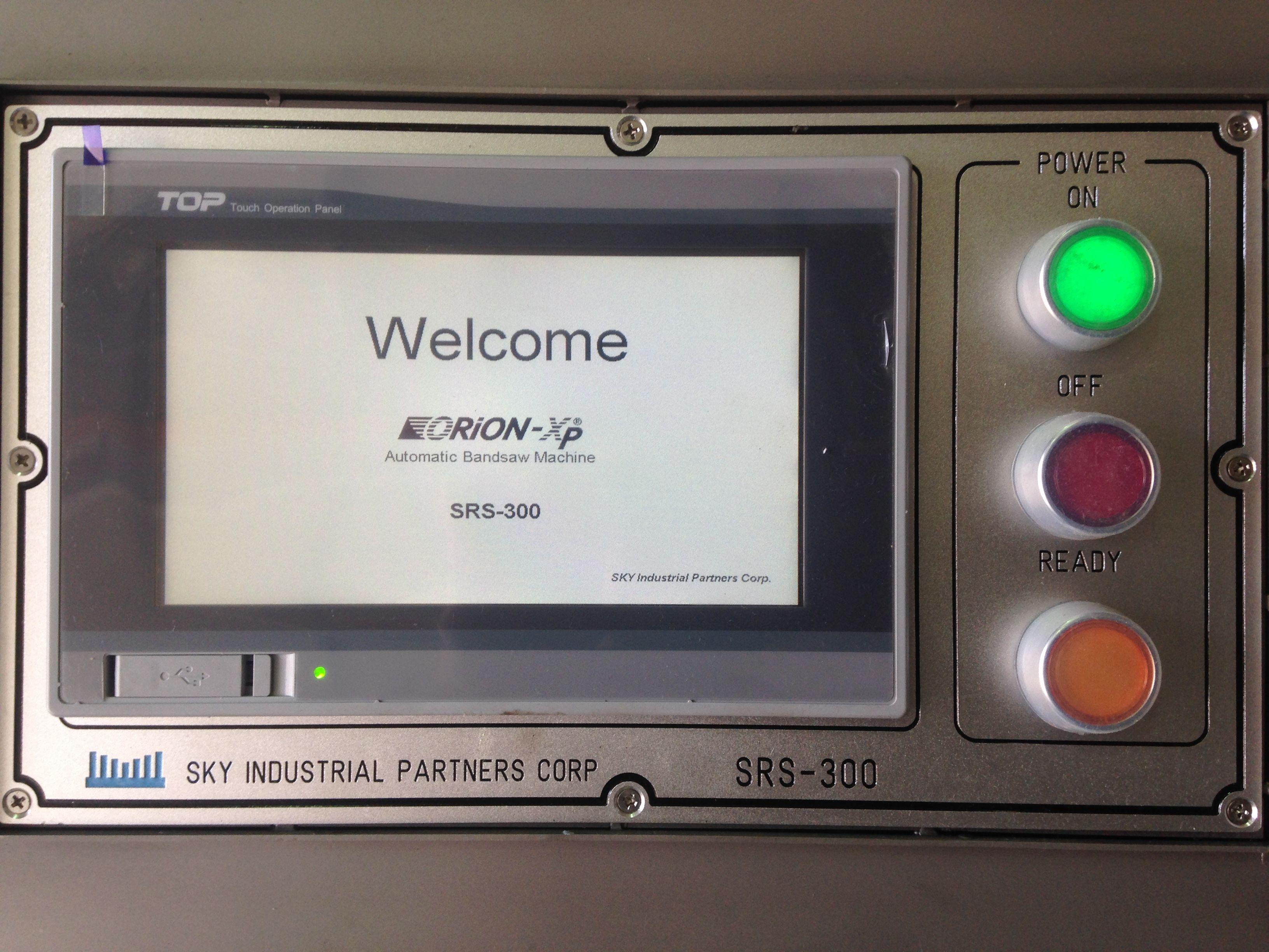 Wel e message on ORION Xp Automatic bone saw machine