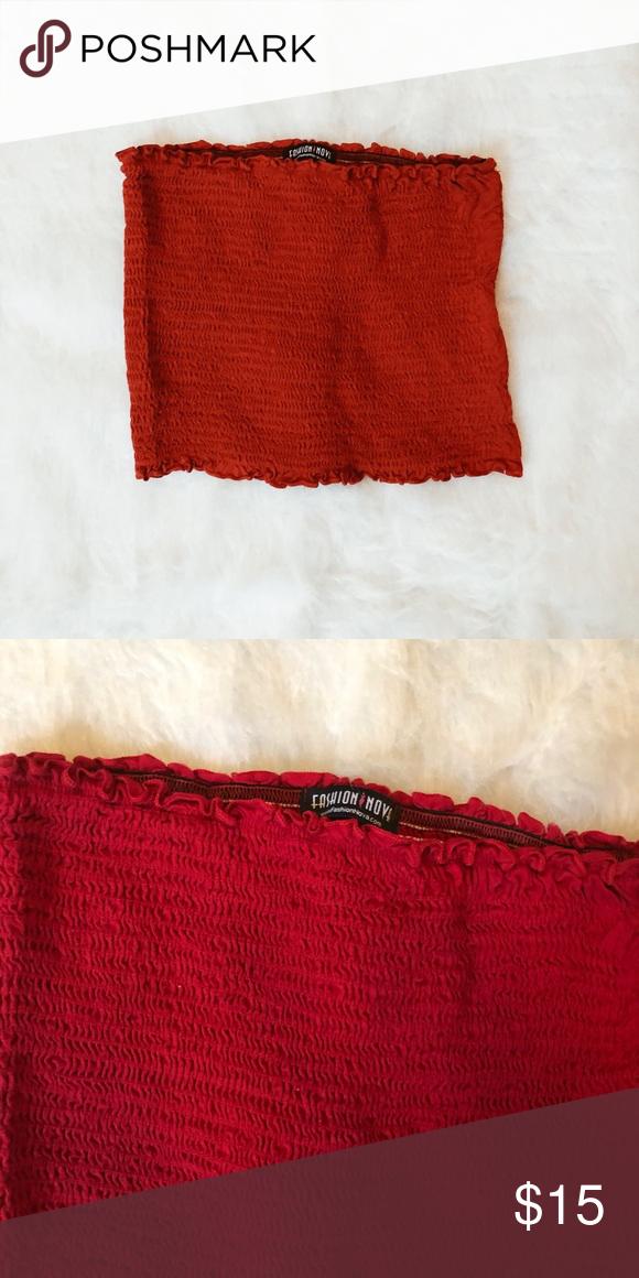 125b5ec3b6 Red Tube Top Like new Fashion Nova Tops Crop Tops