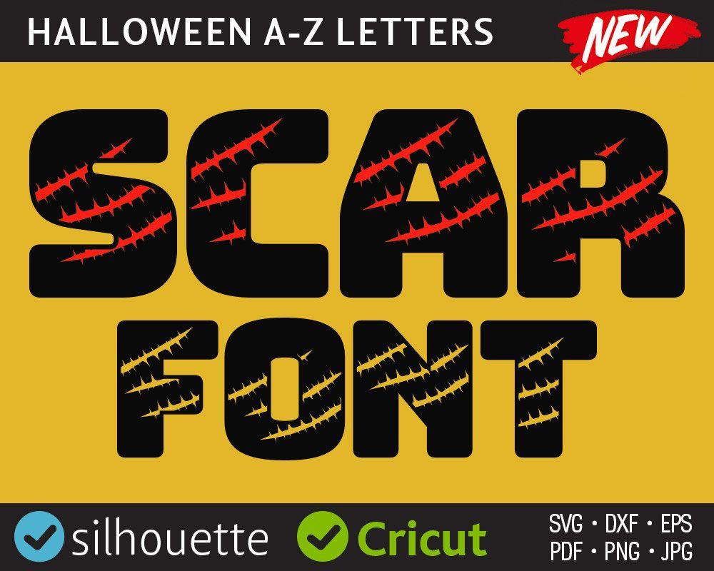 Halloween monogram letters svg cuttable letter design files ...