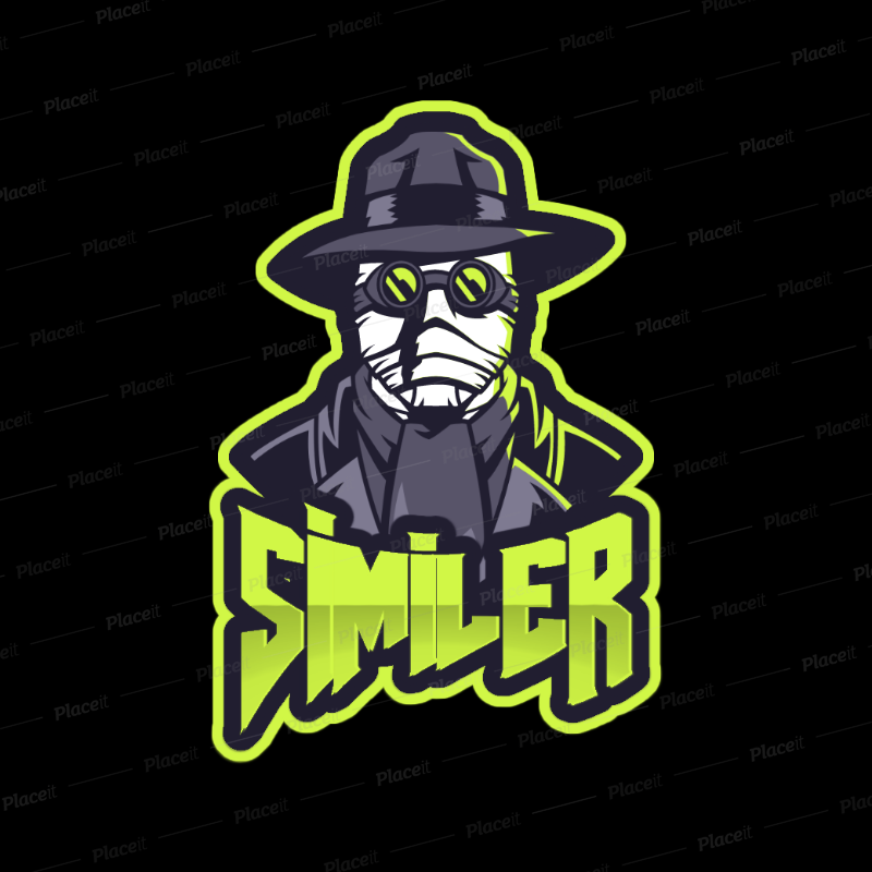 Gaming Logo Template Featuring a Fantasy Skull Clipart
