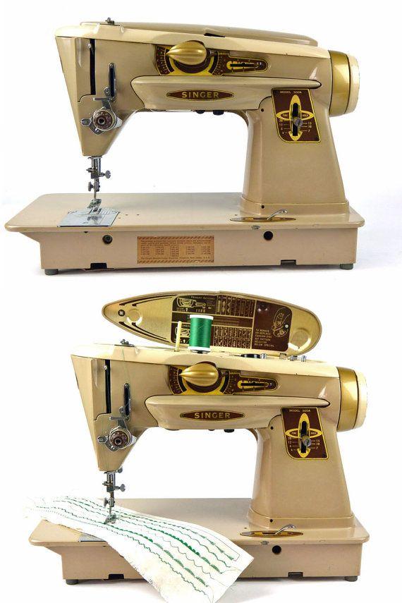 1961 Singer Sewing Machine Vintage 60s SINGER 500 Slant-o ...