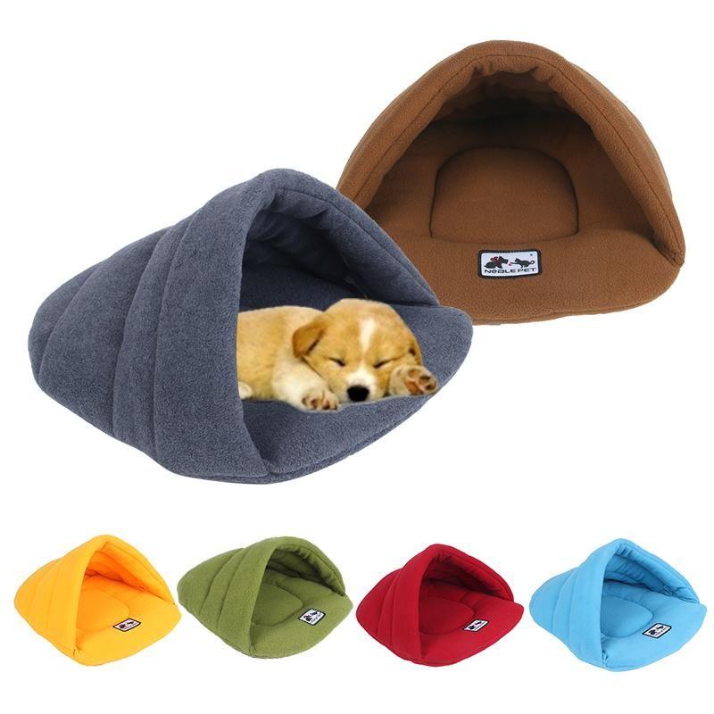 Soft Fleece Winter Warm Pet Dog Bed Small Dog Cat Sleeping Bag Puppy Cave Beds