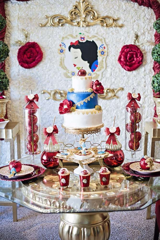 Snow White Inspired Party Birthday Party Ideas Snow White Party