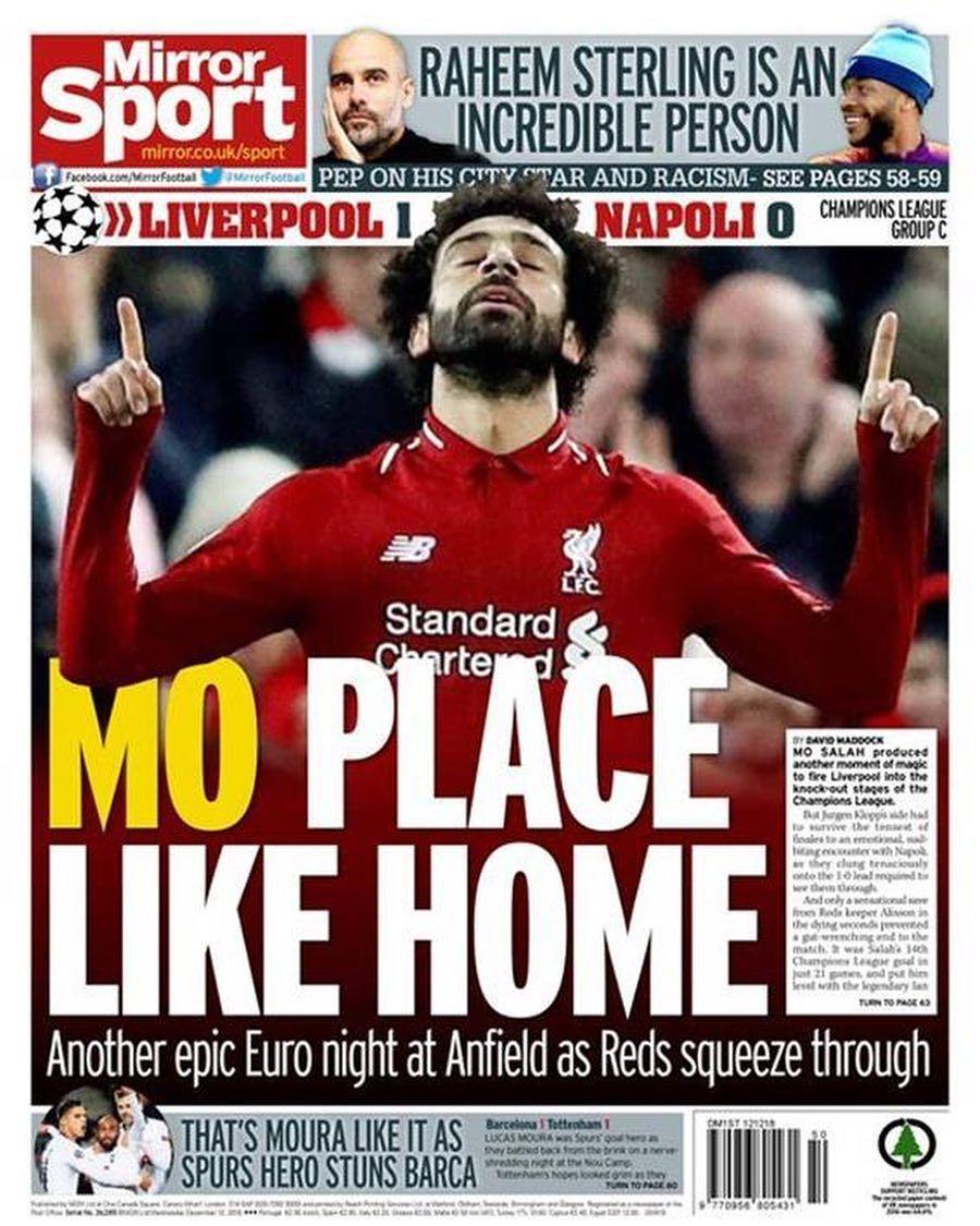 غنت الصحافة الإنجليزية الصادرة صباح اليوم الأربعاء بالفرعون المصري محمد صلاح بعد تألقه بالأمس في Salah Liverpool Liverpool Liverpool You Ll Never Walk Alone
